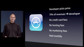 Steve Jobs presenting the AppStore
